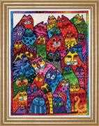 Design Works Crafts Cat Collage Cross Stitch Kit