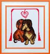 VDV Dachshund Love Cross Stitch Kit