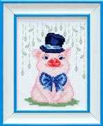 VDV Mr Pig Cross Stitch Kit