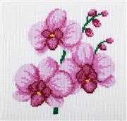 VDV Pink Orchids Cross Stitch Kit