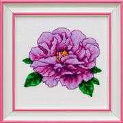 VDV Pink Peony Cross Stitch Kit