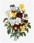Luca-S Bouquet of Pansies Cross Stitch Kit