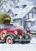Luca-S Winter Holidays Cross Stitch Kit