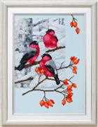 VDV Bullfinches and Dog Rose Embroidery Kit