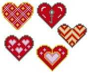 VDV Hearts Embroidery Kit