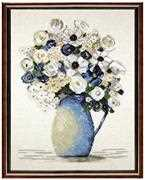 Janlynn Blue Anemones Cross Stitch Kit