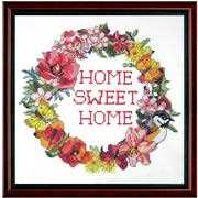 Home Sweet Home Wreath - Janlynn Cross Stitch Kit
