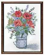 Janlynn Poppies Cross Stitch Kit