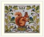 Merejka Squirrel Cross Stitch Kit