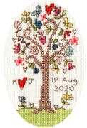 Bothy Threads Sweet Tree Card Wedding Sampler Cross Stitch Kit