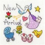 Bothy Threads New Baby Card Cross Stitch Kit