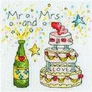 Bothy Threads Cheers Card Wedding Sampler Cross Stitch Kit