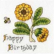 Marigold Card - Bothy Threads Cross Stitch Kit