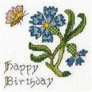 Bothy Threads Cornflower Card Cross Stitch Kit