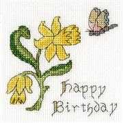 Bothy Threads Daffodil Card Cross Stitch Kit