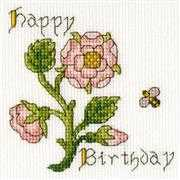 Bothy Threads Rose Card Cross Stitch Kit