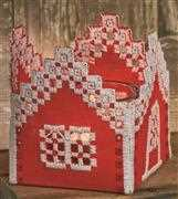Permin Hardanger Red House Embroidery Kit