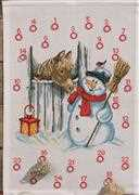 Permin Snowman and Horse Advent Christmas Cross Stitch Kit