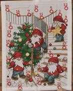 Decorating Elves Advent - Permin Cross Stitch Kit