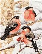 Lanarte Bullfinch Christmas Cross Stitch Kit