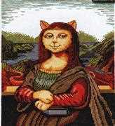 Design Works Crafts Meowy Lisa Cross Stitch Kit