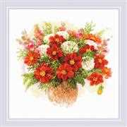 RIOLIS Watercolour Dahlias Cross Stitch Kit