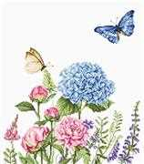Luca-S Summer Flowers & Butterflies - Aida Cross Stitch Kit