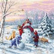 Luca-S Merry Christmas Cross Stitch Kit