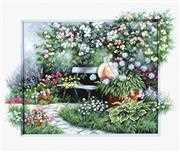Luca-S Blooming Garden Cross Stitch Kit