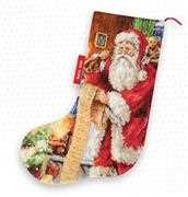 Luca-S Santa's List Stocking Cross Stitch Kit
