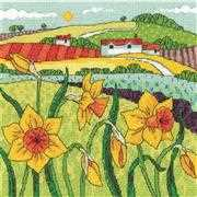 Daffodil Landscape - Aida - Heritage Cross Stitch Kit