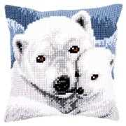 Vervaco Polar Bears Cushion Christmas Cross Stitch Kit
