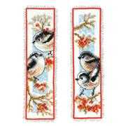 Vervaco Long-Tailed Tits and Berries Bookmarks Christmas Cross Stitch Kit