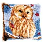 Owl Latch Hook Cushion - Vervaco Latch Hook Kit