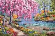 Cherry Blossom Creek - Dimensions Cross Stitch Kit