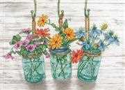 Dimensions Flowering Jars Cross Stitch Kit