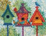 Dimensions Colourful Birdhouses Tapestry Kit