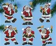 Santa Bells Ornaments - Design Works Crafts Cross Stitch Kit