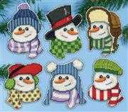 Snowmen Hats Ornaments - Design Works Crafts Cross Stitch Kit