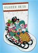 Design Works Crafts Snow Sledding Stocking Cross Stitch Kit