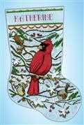 Cardinal Stocking - Design Works Crafts Cross Stitch Kit