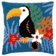 Vervaco Toucan in Blue Cushion Cross Stitch Kit