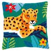 Vervaco Leopard Cushion Cross Stitch Kit