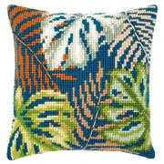 Botanical Leaves Cushion - Vervaco Cross Stitch Kit