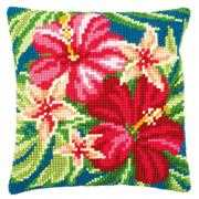 Botanical Flowers Cushion - Vervaco Cross Stitch Kit