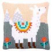 Lovely Llama Cushion - Vervaco Cross Stitch Kit