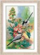 Chickadees and Blossoms - Vervaco Cross Stitch Kit