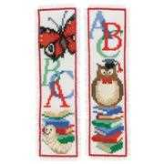 Owl and Worm Bookmarks - Vervaco Cross Stitch Kit