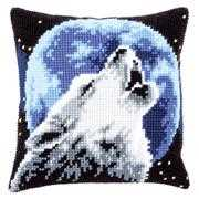 Vervaco Wolf and Moon Cushion Cross Stitch Kit