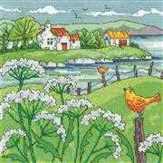 Cow Parsley Shore - Evenweave - Heritage Cross Stitch Kit